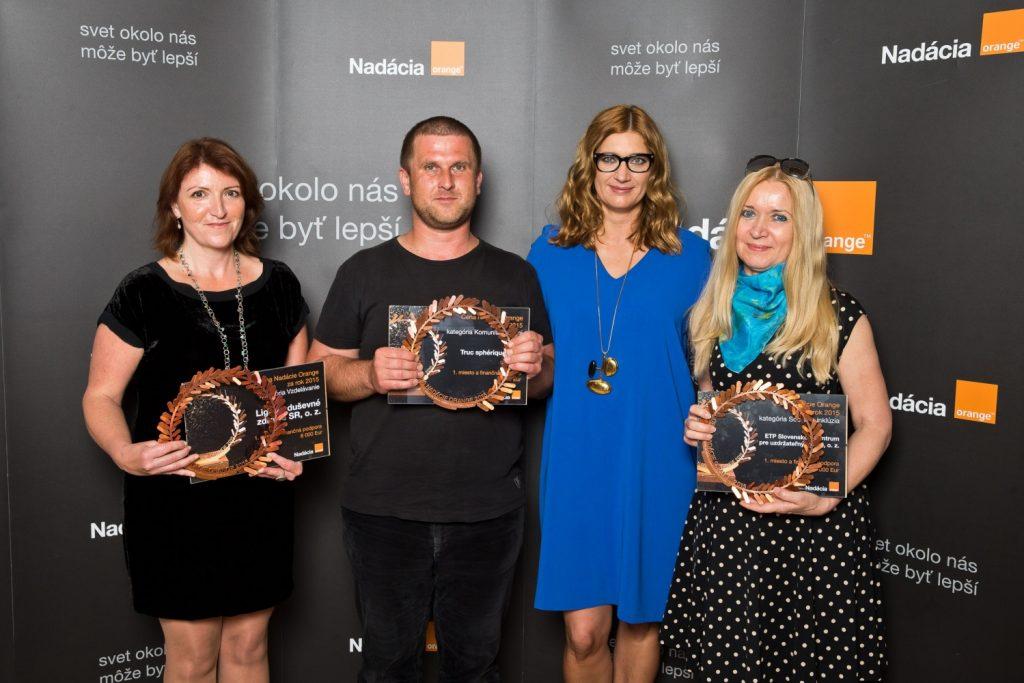Víťazi Ceny Nadácie Orange za rok 2015